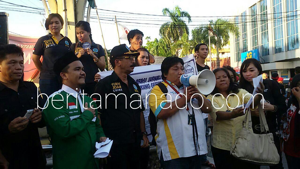 Insan Pers Manado ikut menyuarakan penolakan Narkoba