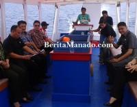 Dahsyat !!! Terjang Ombak, DPRD Manado Pantau Infrastruktur Sekolah di Bunaken