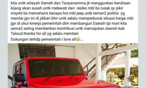 Beli Mobil Mewah, Bupati Talaud Minta Dipahami