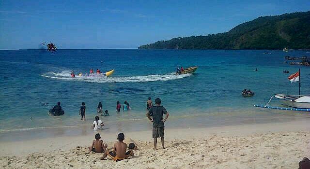 Pantai Pulisan di Likupang, salah-satu spot wisata eksotis Minahasa Utara