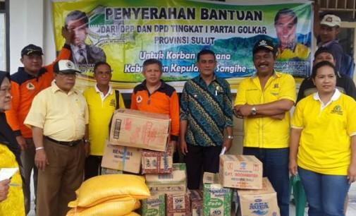 DPP Partai Golkar serahkan Bantuan Bencana Sangihe