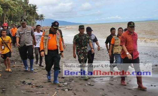 Bupati Makagansa Jalan Kaki 3 Kilometer ke Lokasi Longsor