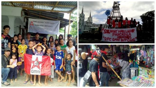 Aksi GMNI Kota Bitung memperingati hari Pancasila