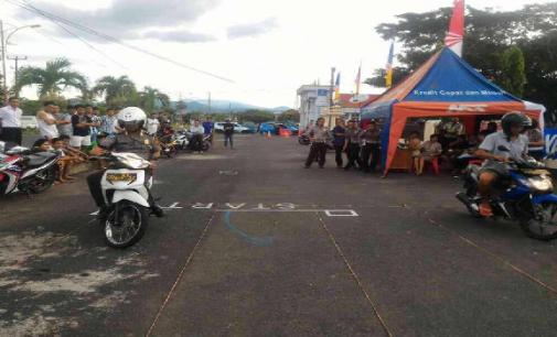 Meriahkan HUT Bhayangkara Ke-70 Polres Minsel Gelar Lomba Motor Lambat