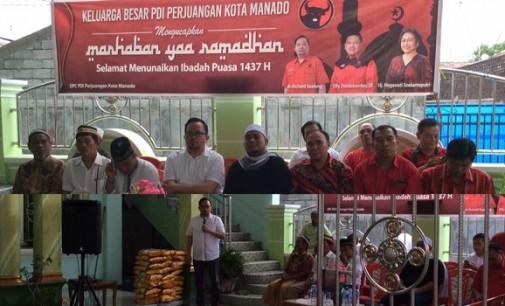 DPC PDIP Gelar Buka Puasa Bersama di Kecamatan Tuminting