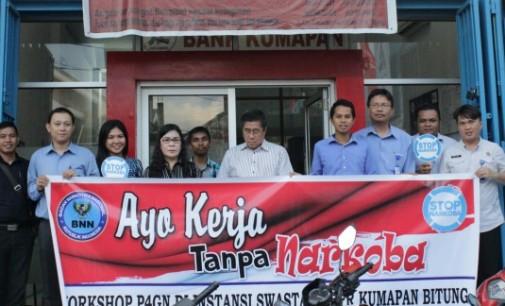 BNN Bitung Perkenalkan Bang Wawan ke Karyawan Bank Kumapan