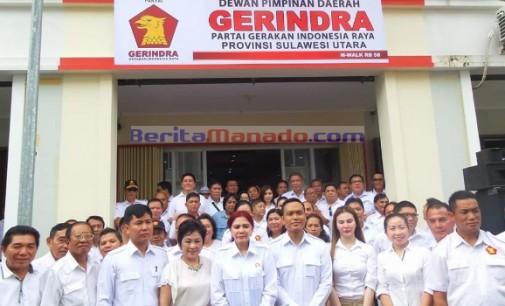 Gerindra Sulut: Resmikan Gedung Baru, VONNIE PANAMBUNAN Rapatkan Barisan
