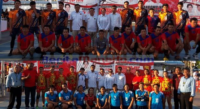 Tim Putra dan Tim Putri Volley Ball pada pertandingan pertama