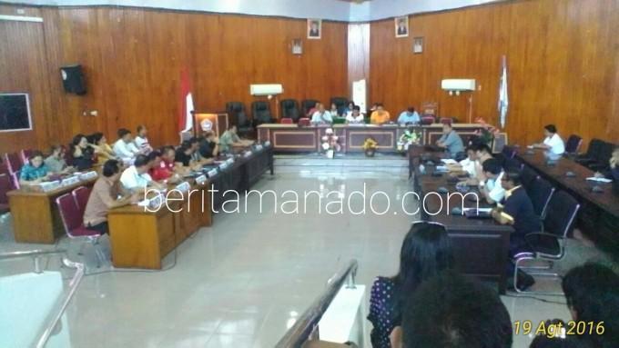 Rapat kerja THL, Pala dan RT DPRD Kota Bitung