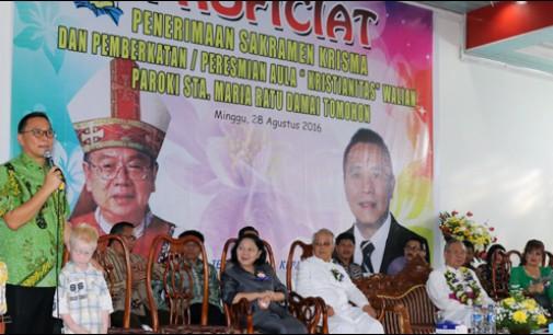 Uskup Manado Resmikan Aula Kristianitas