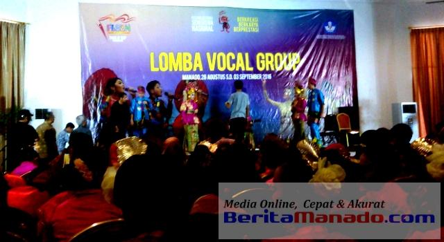 Situasi Check Sound peserta lomba vokal grup FLS2N 2016