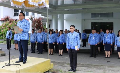 Jimmy Eman Pimpin Apel Korpri dan Peringatan HUT Provinsi