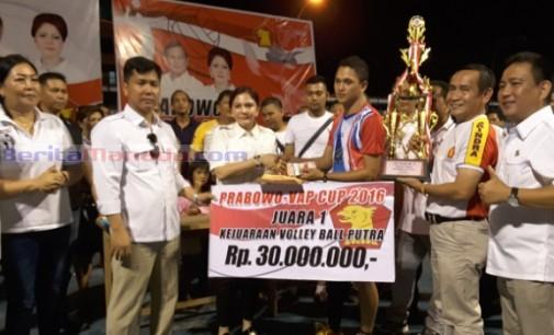 Prabowo-VAP Cup Sukses! VONNIE PANAMBUNAN Puji Atlet Voli Sulut