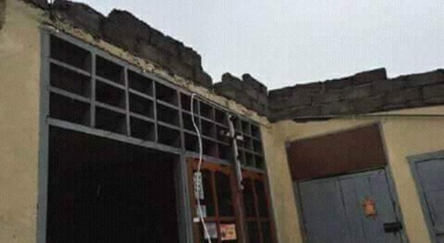 Kondisi sekolah yang rusak.