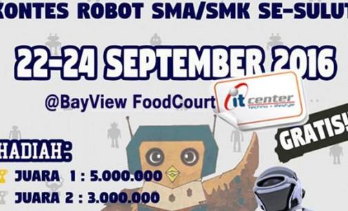 Wuih !!! Saksikan, Robot Bermain Sepakbola di itCenter Manado