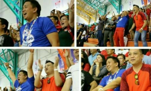 Jackson Kumaat Menjadi Supporter Tim Sulut di PON Jawa Barat