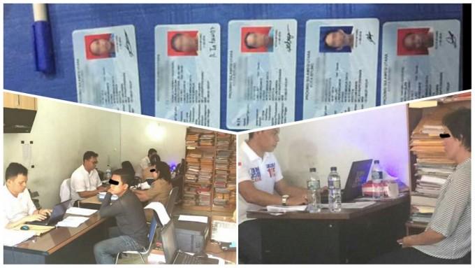 Proses pemeriksaan yang dilakukan tim Polda terkait WNA Filipina berKTP Kota Bitung