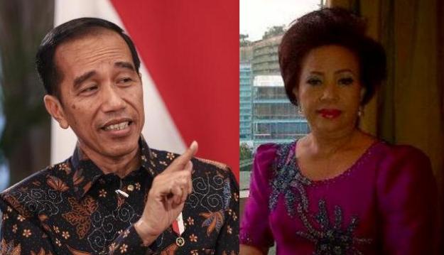 Presiden RI Joko Widodo dan Ketua DPRD Manado Noortje Van Bone
