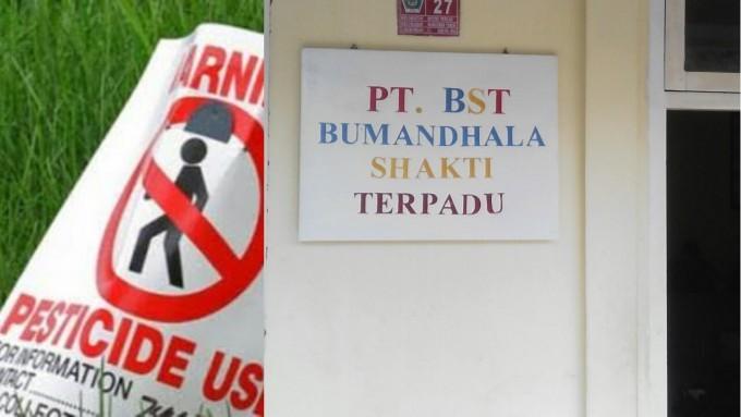 PT BST yang menyimpan zat kimia di pemukiman warga