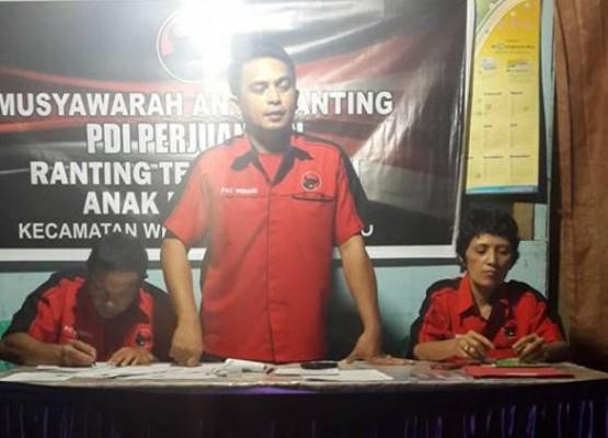 Suasana Musyawarah Anak Ranting di Kelurahan Teling Bawah Kecamatan Wenang Kota Manado.