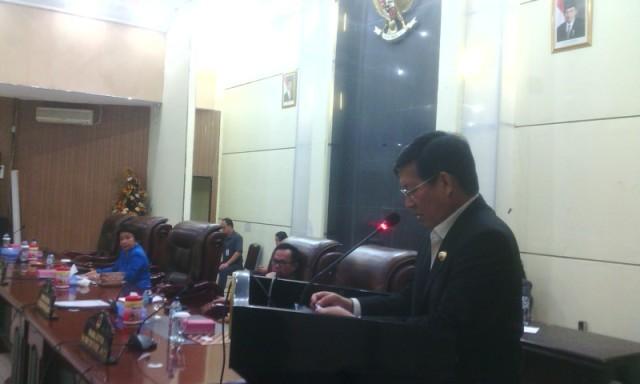 Walikota menyampaikan tanggapan usai penandatanganan.