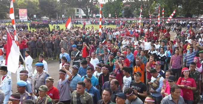 Apel Indonesia Bersatu berjalan