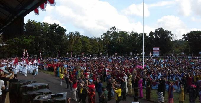 Apel Indonesia Bersatu massa banyak