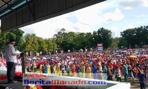 Parade Nusantara Bersatu, STEVI SUAWA Bacakan Resolusi Rakyat Sulut