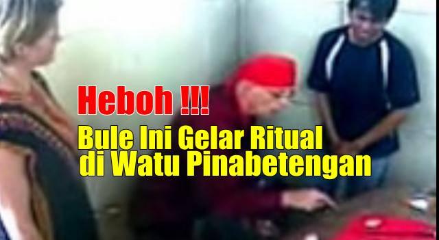 Bule Belanda Gelar Ritual Sembuhkan Sakit Batin di Watu Pinawetengan Minahasa