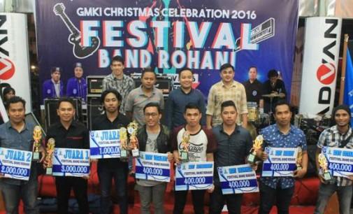 Sukses !!! ON FIRE, TEHILLA, MIZZIMOR Band Juarai Festival Band Rohani GMKI Manado