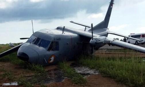 Pesawat TNI AL Jatuh di Bandara Leo Watimena Morotai