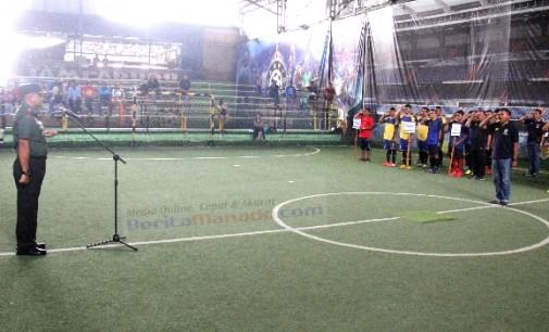Unik !!! Turnamen Futsal Antar Kecamatan Ini Diawali Dengan Upacara