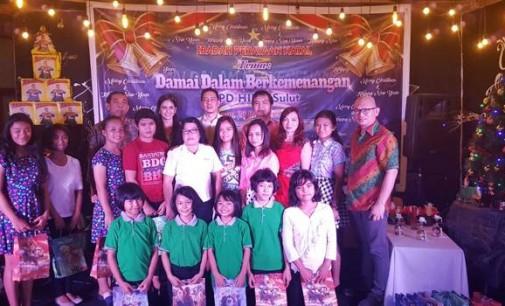 Ibadah Natal DPD HIPPI SULUT: Parade Puisi Hingga Santunan Anak Yatim