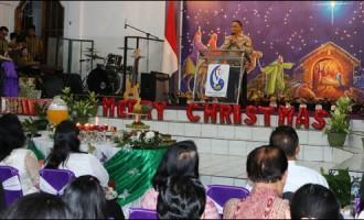 Berita Foto: Ibadah Pra Natal GPdI Pusat Tomohon