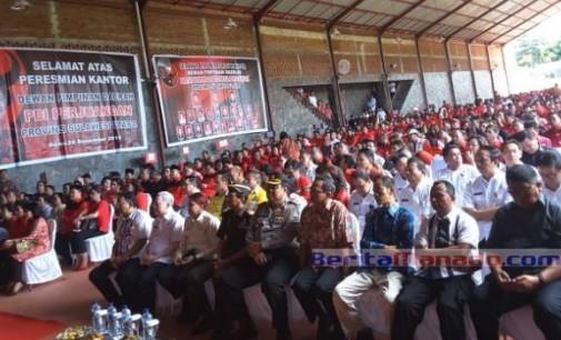 Ribuan Kader PDIP Hadiri Peresmian Kantor DPD PDIP Sulut