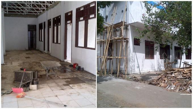 Proyek Kantor Inspektorat Kota Bitung yang belum selesai