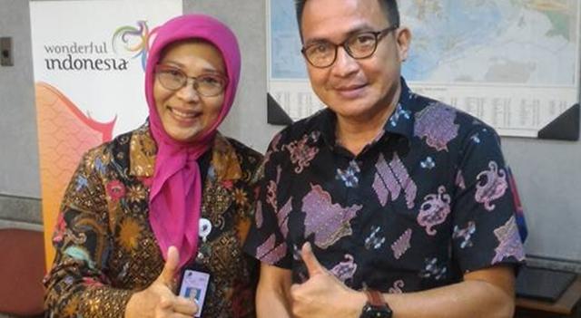 Dino Gobel bersama Dirjen Promosi Nusantara Kemenpar RI