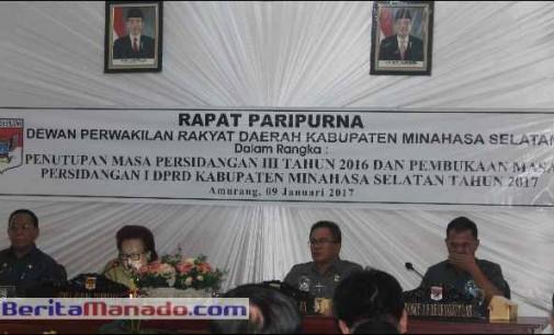 DPRD Minsel Gelar Rapat Paripurna Tutup Buka