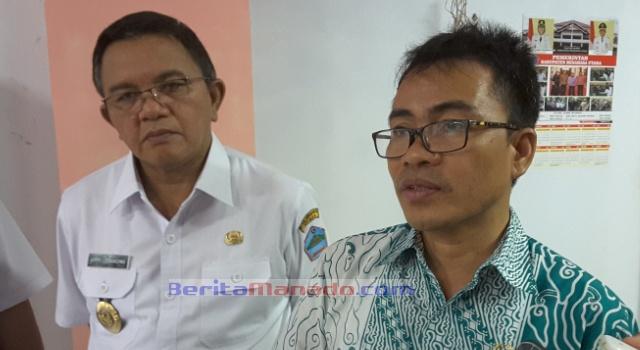 Anggota DPD RI Stefanus Liow bersama Wabup Minut Joppi Lengkong.