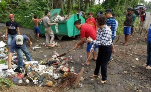Gesitnya Kadis LH dan Camat Talawaan Tangani Masalah Sampah di Paniki