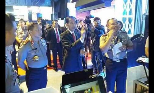 Aplikasi AREA Polres Minsel Tampil Elegan di Depan Presiden dan Kapolri