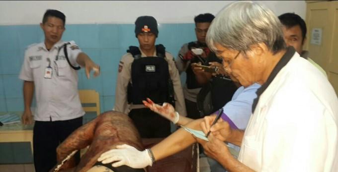 Korban ketika berada di ruangan jenasah RSU Budi Mulia