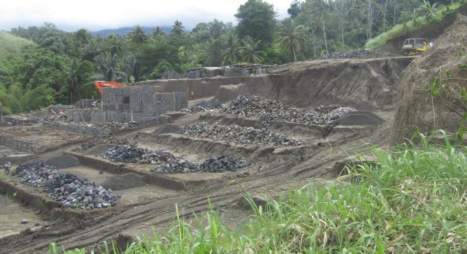 Pembangunan perumahan baru di jalan Koka