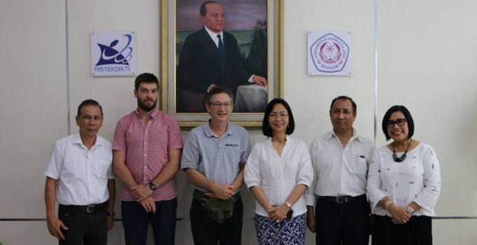 Rektor Unsrat terima kunjungan tamu Australia