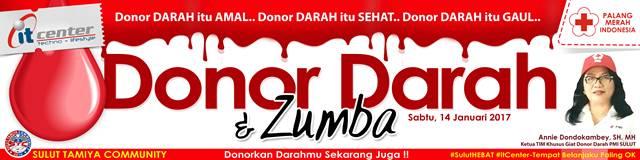 Spanduk donor darah