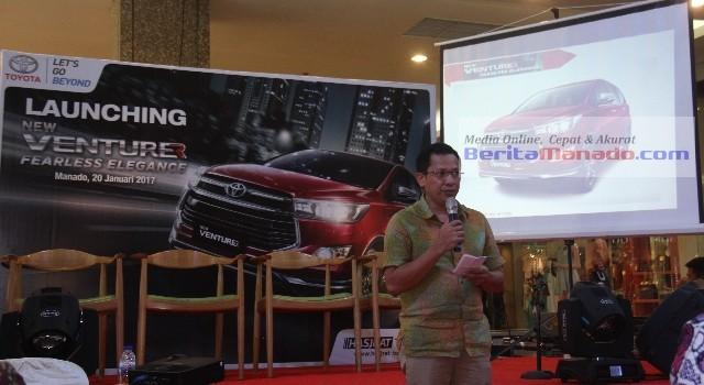 Arinal Jusuf saat launching Toyota Venturer
