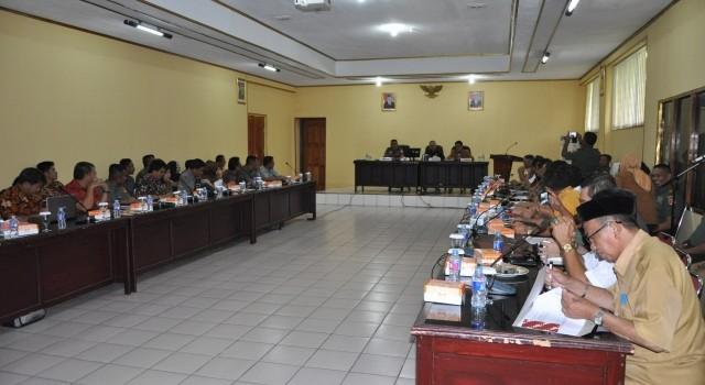 Rapat koordinasi cetak sawah Korem 131/Santiago dan pemerintah Sulut dan Gorontalo