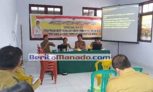 Dinas PMD dan Dinas Pertanian Minsel Rapat Koordinasi Dengan Camat