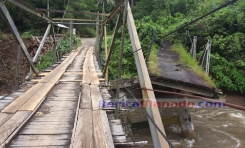 Jembatan Rawan Ambruk, Nyawa Warga Kuwil Terancam !!!