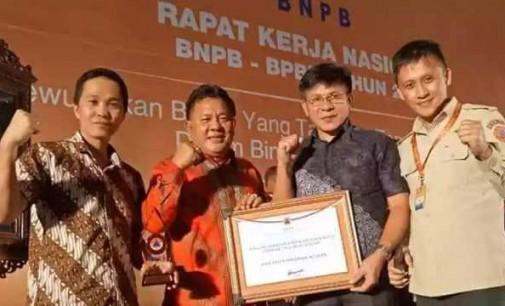"""Harumkan Minsel, BPBD Raih """"BPBD Tangguh Award"""" di Rakernas se-Indonesia"""